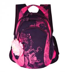 Рюкзак гризли rd-220 темно серый декор на сумке-рюкзаке